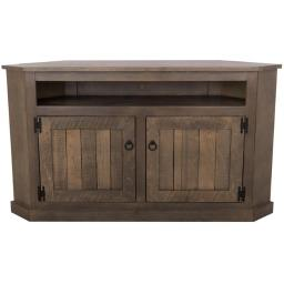 Eagle Furniture RS-78744-PMS 56 in. Rustic Stone, Corner Entertainment Console - Red Stone