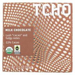 Tcho Chocolate Milk Chocolate Bar - Cacao - Case of 12 - 2.5 oz.