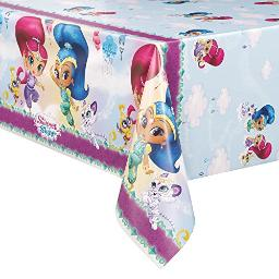 """Unique Shimmer And Shine Plastic Tablecloth, 84"""" X 54"""""""
