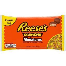 Reese's Peanut Butter Cups Miniatures Crunchy Chocolate