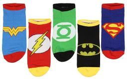 UPC 001421070009 product image for DC Comics Superhero No-Show Socks 5 Pair | upcitemdb.com