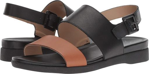 2489b9bf0 Naturalizer Womens Emory Leather Open Toe Casual Slingback Sandals