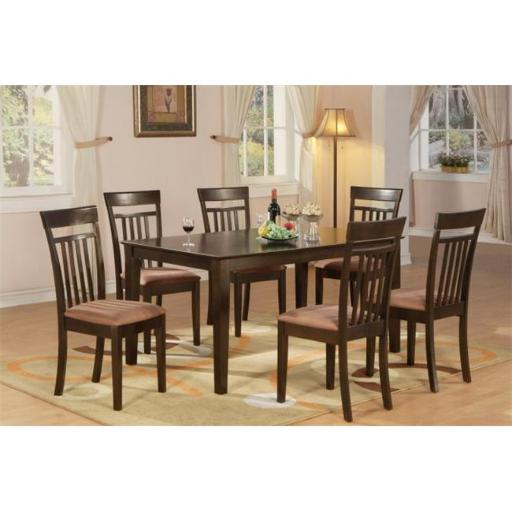 East West Furniture CAP5S-CAP-C 5 Piece Formal Dining Room Set- Dining Table Top and 4 Dining Room Chairs
