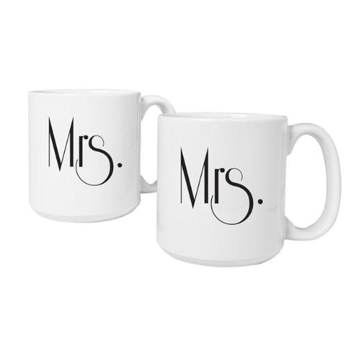 Cathys Concepts GMRS-3900 Mrs. & Mrs. Gatsby 20 oz. Large Coffee Mugs Set of 2