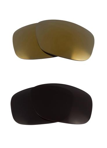 Best SEEK Replacement Lenses for Oakley SQUARE WIRE (2006) Black Gold Mirror