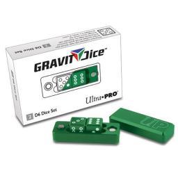 Ultra Pro ULP84875 D6 Gravity Dice, Set of 2 - Emerald