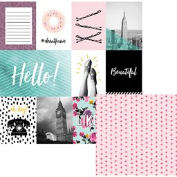 American Craft We R Memory Keepers Urban Chic Collection 12 X 12 Double Sided Paper Like A Girl