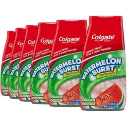 Colgate Kids Toothpaste, Watermelon - 4.6 ounce (6 Pack)