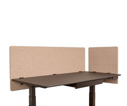"Luxor Reclaim 2-Pack Desktop Privacy Panel In Desert Sand - 60""W x 24""H"
