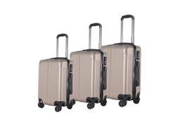 Brio Luggage Hardside Spinner Luggage Set #956 - Champange