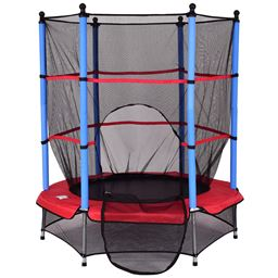 55 Kids Jumping Trampoline with Safety Pad Enclosure Combo""