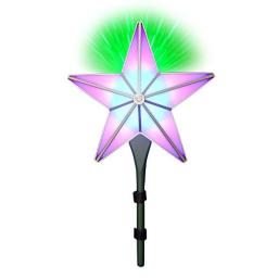 BlissLights Shining Star Christmas Tree Topper - Multicolored LED Light Show Decoration Indoor Holiday Projector Lighting