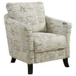 Offex OFX-283913-MO Vintage French Fabric Accent Chair