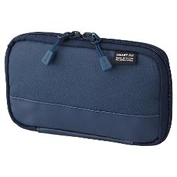 LIHITLAB Compact Pen Case (Pencil Case), Water & Stain Repellent,3.5 x 6.5'', Navy (A7687-11) (A-7687-11)