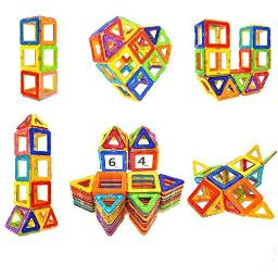 Soyee 64pcs Magnetic Blocks Educational Toys for 3+ Year Old Boys and Girls Stacking Kids Toys Magnetic Tiles Big Building Block