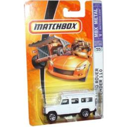 Mattel Matchbox 2006 MBX 1:64 Scale Die Cast Metal Car # 55 - White 4 Wheel Drive Off-Road Sport Utility Vehicle 1997 Land Rover Defender 110 by Matchbox