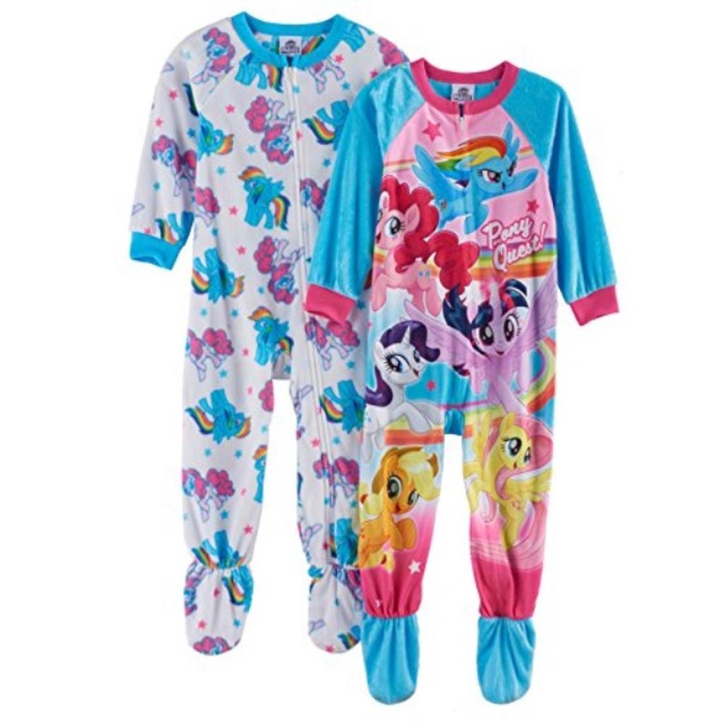 My Little Pony 2-pk. Fleece Footed Pajamas Girls (2T)