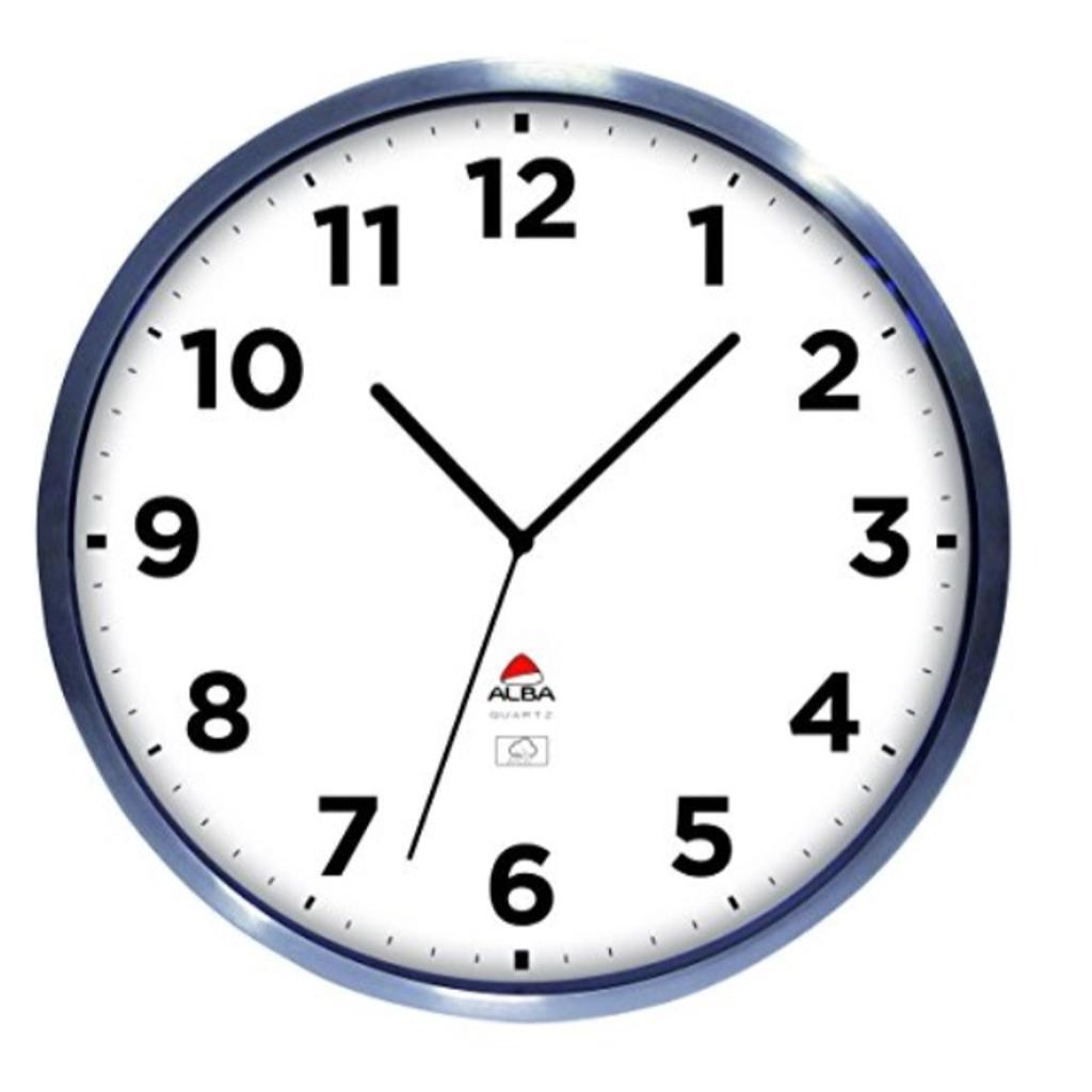 Alba 14-Inch Outdoor Wall Clock, Silver Frame (HOREXTRA)