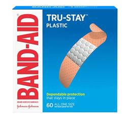 Band-Aid Brand Plastic Strips Adhesive Bandages for Wound Care and First Aid, All One Size, 60 ct