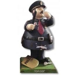 Bobble Handpainted Guyz Police Officer Head Doll