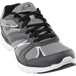 Avia Men's avi-Modus Running Shoe, Frost Iron Grey/Black/Chrome Silver, 8 M US