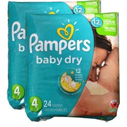 Pampers Baby Dry Diapers - Size 4 - 48 ct