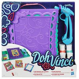 Play Doh DohVinci Anywhere Art Studio Easel and Storage Case Set