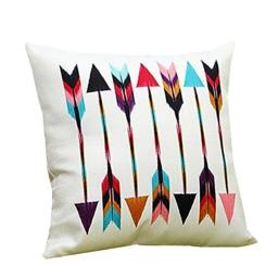 NAVIBULE Cartoon Contrast Color Arrows Pattern Square Throw Pillow Case Covers(18 X 18in)
