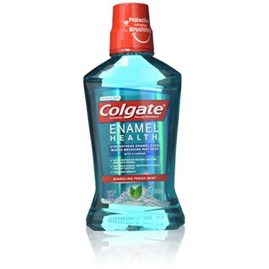 Colgate Enamel Health Anticavity Fluoride Mouthwash, Sparkling Fresh Mint 16.90 oz (Pack of 3)