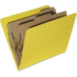 SKILCRAFT 7530-01-556-7918 Pressboard Classification Folder, Letter Size, Yellow (Box of 10)
