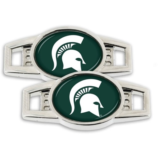 NCAA Michigan State Spartans Sports Team Logo Shoe Charm Set of 2