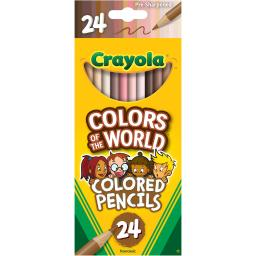 Crayola colors of world colored pencls 24pk