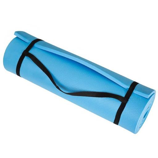 Trademark M010043 72 x 24 x 0.50 in. Wakeman Fitness Extra Thick Foam Exercise Mat - Blue