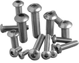 Bolt Buttonhead Action Stainless 6x20mm 20pc