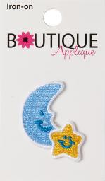 Iron-on Appliques-moon & Star