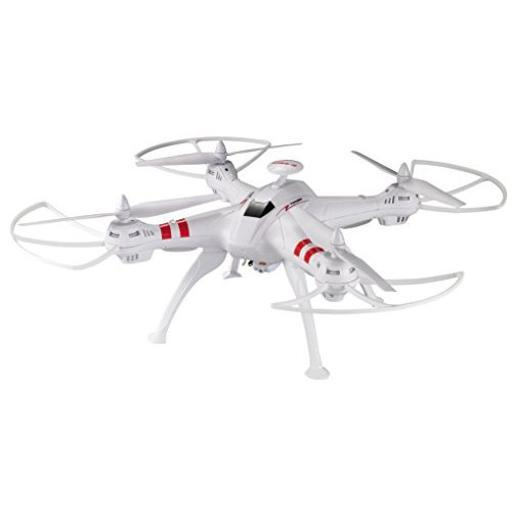Worryfree gadgets drone-x15w-wht 2.0mp wifi live camera large rc