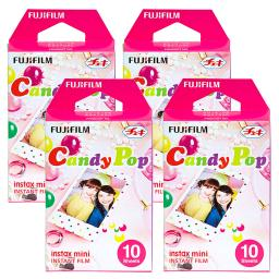 Fujifilm Instax Candy Pop Film Pack Instant Print Mini Cameras 4 Pack 40 Sheets