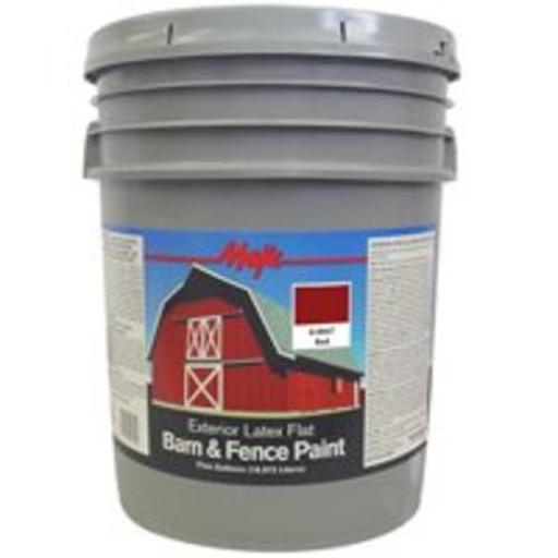 Majic 8-0047-5 Barn & Fence Latex Paint, Red, 5 Gallon