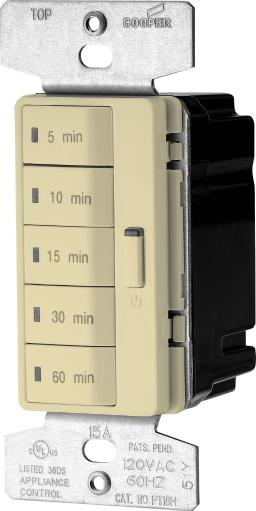 Cooper Wiring Pt18m-v-k Accell Wall Switch Programmable Timer, Ivory