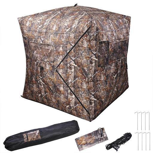 "58x58x65"" Pro Hunting Blind Tent 300D Polyester Fibre w/ Carrying Case Outdoor Sport Shooting thumbnail"
