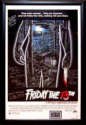 Friday the 13th - Signed Movie Poster