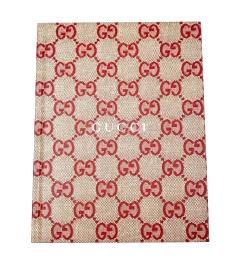 """Gucci Women's Baila Special Appendix 2018 Beige / Red Notebook""""My Scrapbook"""" Limited Edition"""
