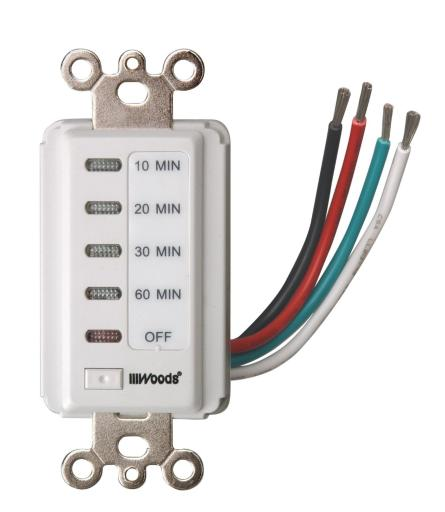 Woods 59008 In-wall Digital Switch Timer, White