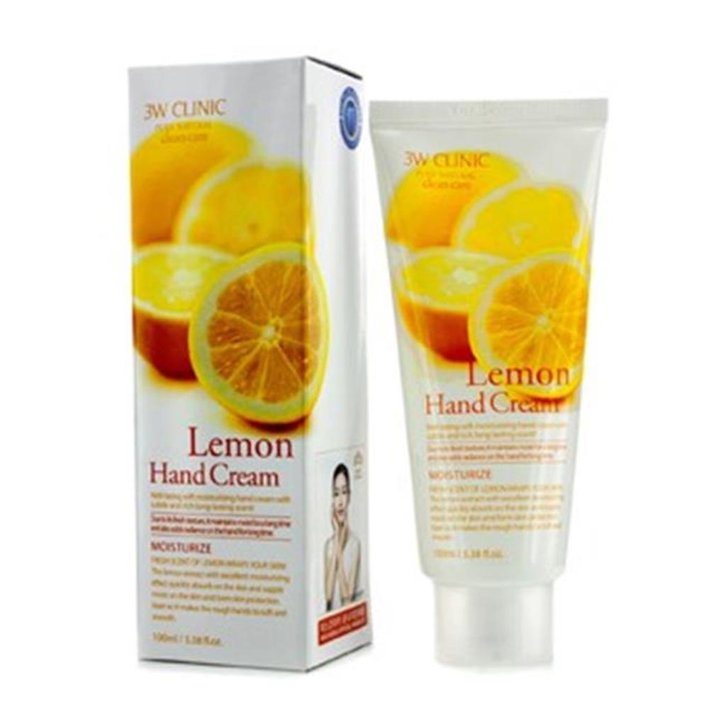 3W Clinic 179752 Hand Cream - Lemon, 100 ml-3.38 oz