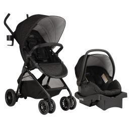 Evenflo sibby travel system with litemax 35 infant car seat, charcoal