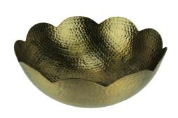 Hammered Aluminum Centerpiece Bowl Gold Finish