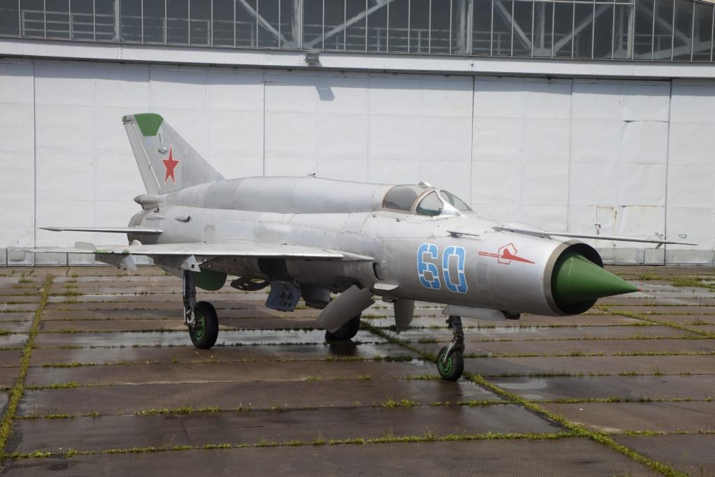 A preserved MiG-21SMT at the former Russian 16th Air Army base, Altenburg Airfield, Germany Poster Print