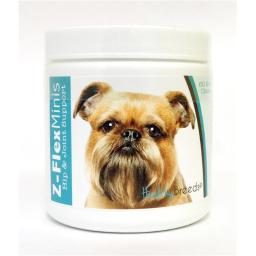 Healthy Breeds 840235103462 Brussels Griffon Z-Flex Minis Hip & Joint Support Soft Chews - 60 Count