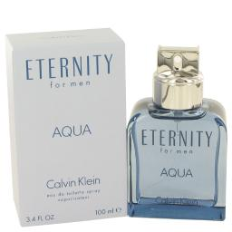 Eternity Aqua Eau De Toilette Spray 3.4 oz For Men 100% authentic perfect as a gift or just everyday use