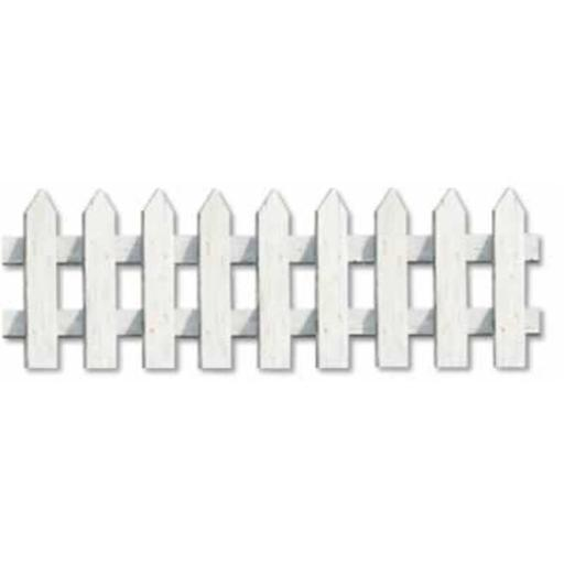 Beistle - 55654 - Picket Fence Cutouts- Pack of 12